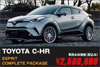 TOYOTA C-HR ESPRIT COMPLETE PACKAGE